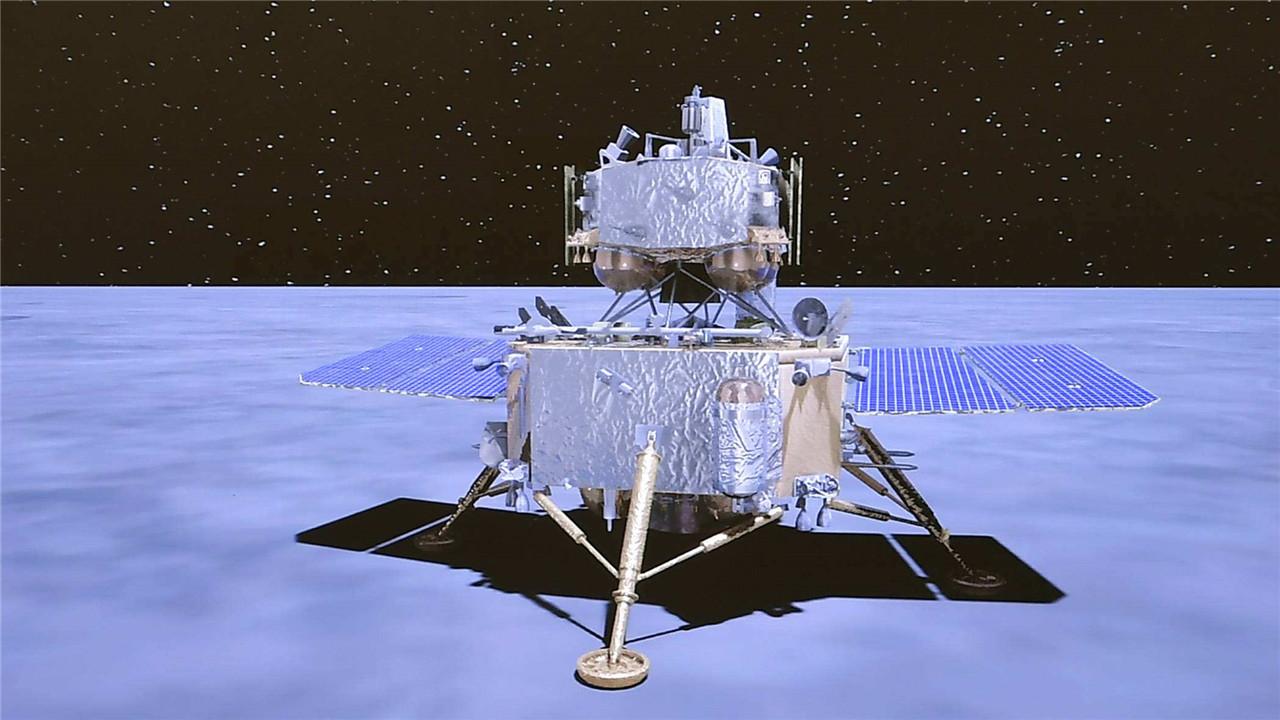 嫦娥揽月 蟾宫挖宝 第一视角看嫦娥五号落月