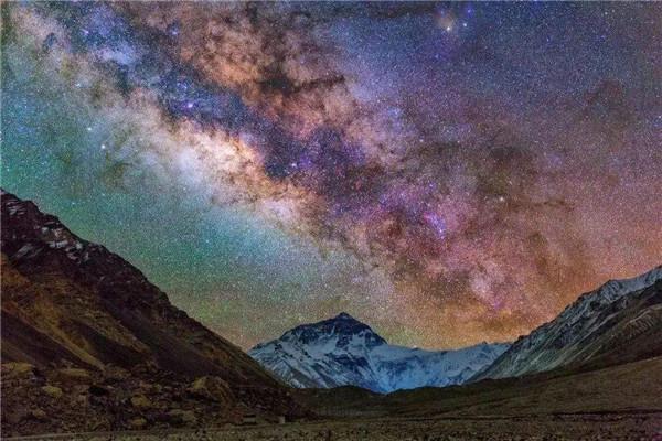 海拔5200米看珠峰顶上的绝美星空