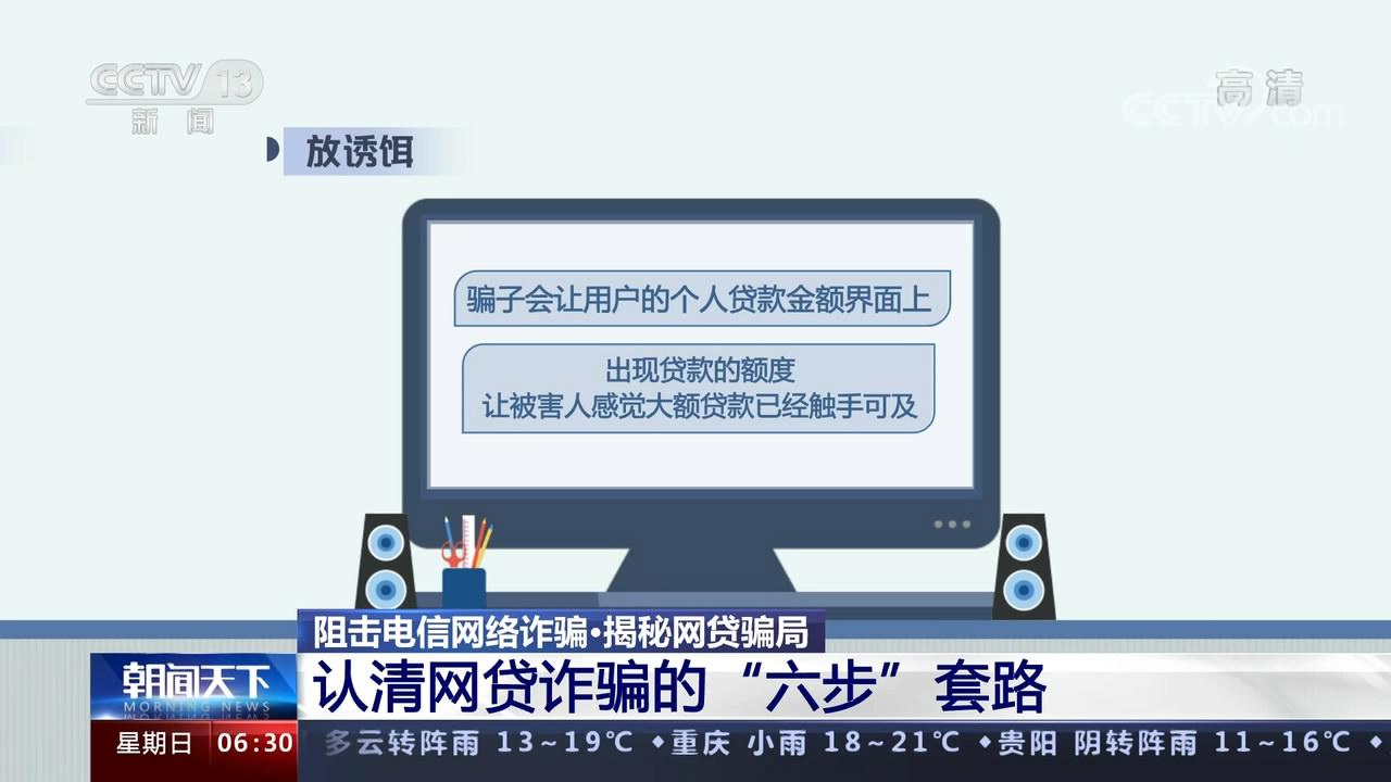 """揭秘网贷骗局 认清网贷诈骗的""""六步""""套路"""