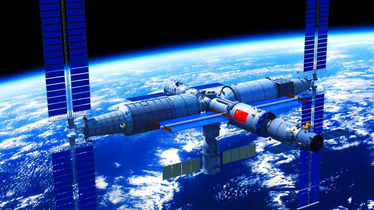 入驻了 中国空间站 向着太空,出征!