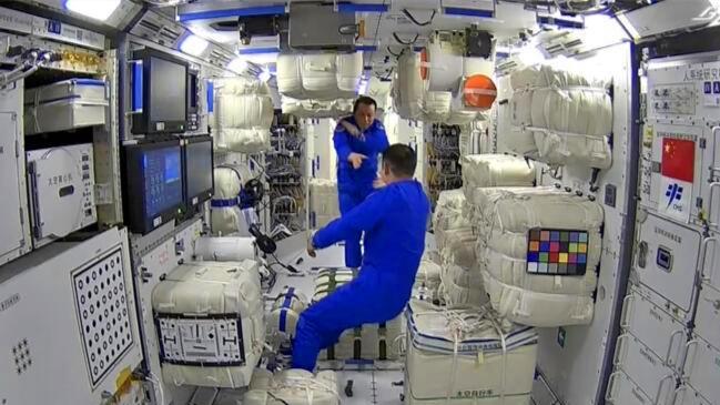 中国空间站 从清晨到深夜 有工作有生活