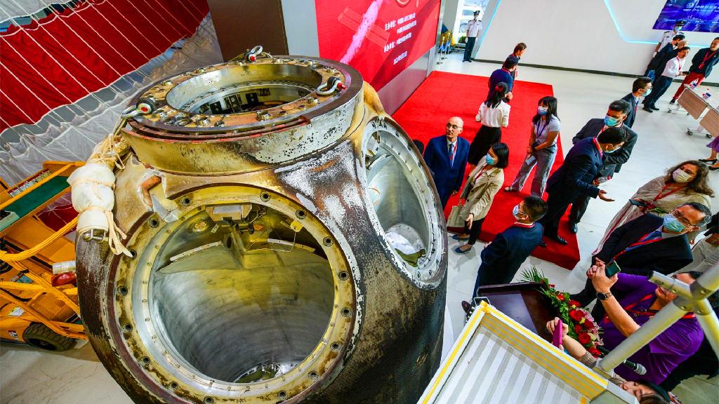 高质量发展在中国 飞船开舱 太空科技助发展
