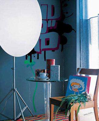 个性家装设计 墙壁涂鸦让你惊叹 图文图片