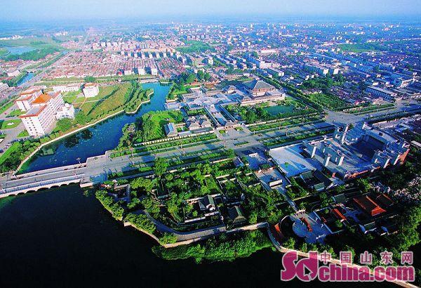 曲阜新城区 高清图片