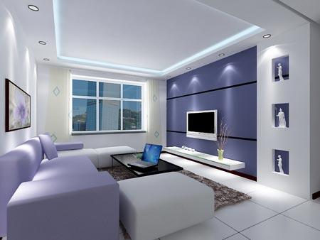 装修欣赏:16款素色淡雅客厅装修效果图