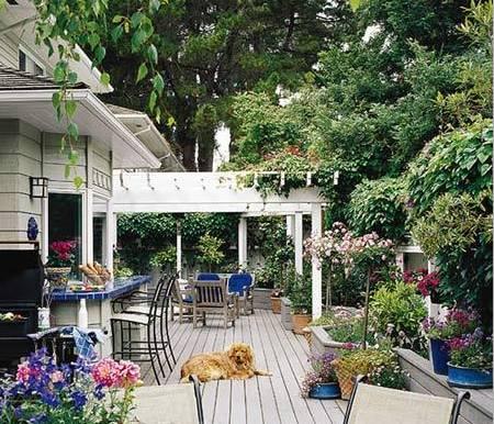 庭院 屋顶 打造别墅私密花园