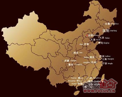 点状中国地图素材