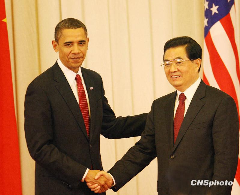 美国总统奥巴马访华图片精萃 中国山东网