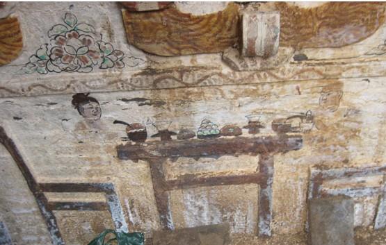 烟台莱州现宋代墓葬 墓室内壁画精彩绝伦