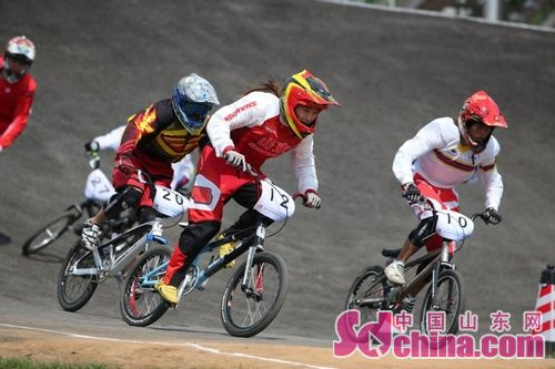 全运会小轮车赛事 老将朱岩获男子组冠军