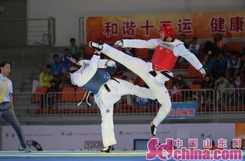 跆拳道男80公斤级 解放军新人马兆勇夺冠