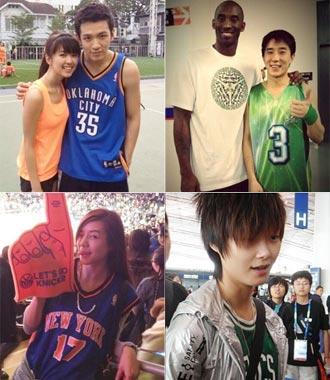 穿NBA球衣的中国明星 ..