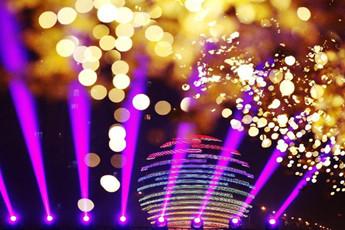 炫丽的2014年APEC会议主题彩灯