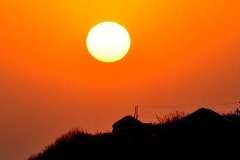 山东青岛西海岸绝美日落 自然界奇景叹为观止
