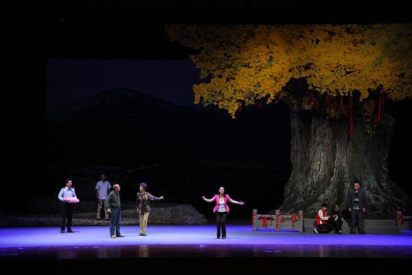 日照:现代吕剧《银杏树下》公演