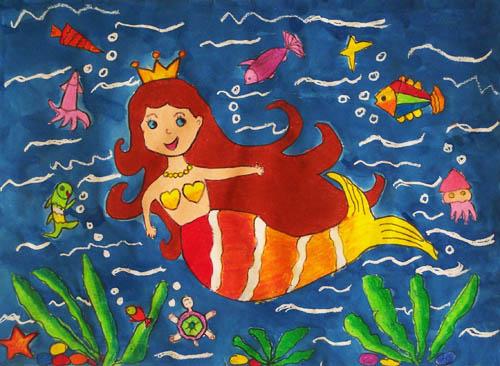 幼儿美人鱼简笔画图片大全