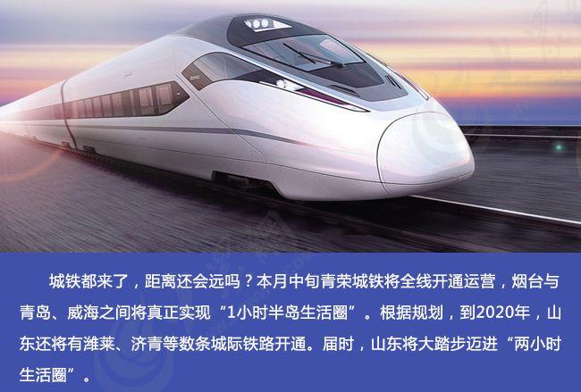 """多条城际铁路将开通 山东迈进""""两小时生活圈"""""""