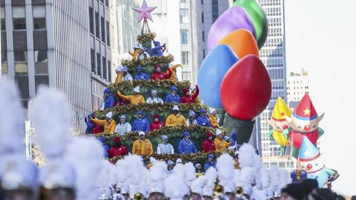 纽约举行2017感恩节大游行