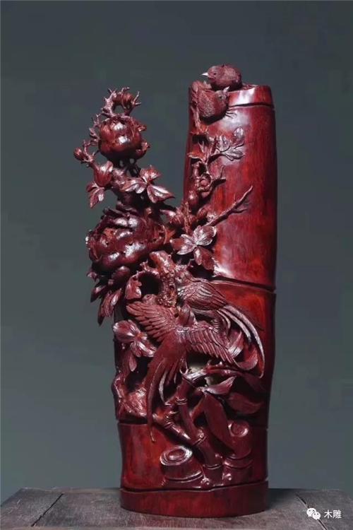 根雕艺术:小叶紫檀作品欣赏