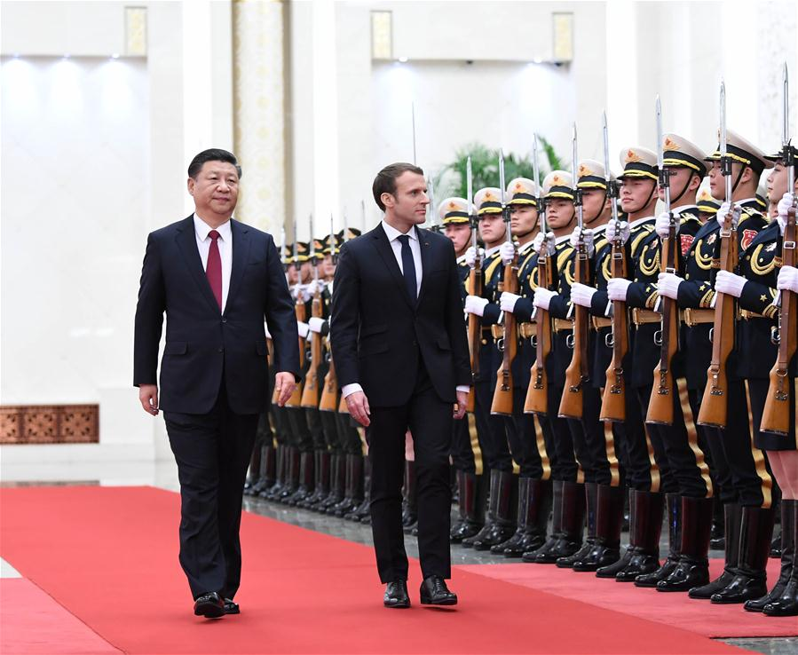 CHINA-BEIJING-XI JINPING-FRANCE-MACRON-TALKS (CN)