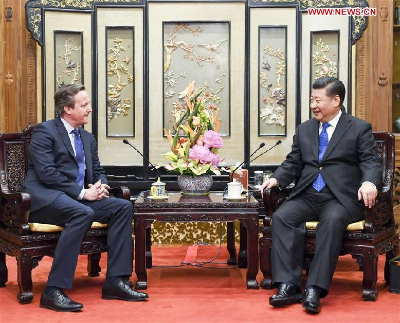 CHINA-BEIJING-XI JINPING-FORMER BRITISH PM-MEETING (CN)