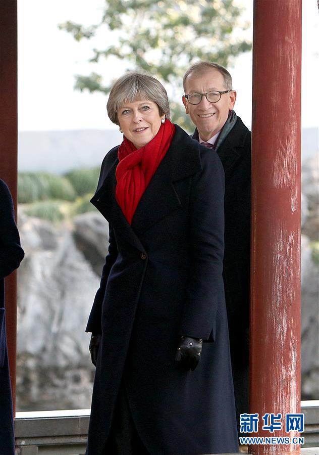 <br/>   2月2日,英国首相特雷莎&amp;middot;梅参观上海豫园。