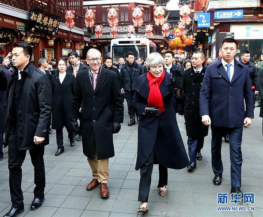2月2日,英国首相特雷莎&amp;middot;梅参观上海豫园。<br/>