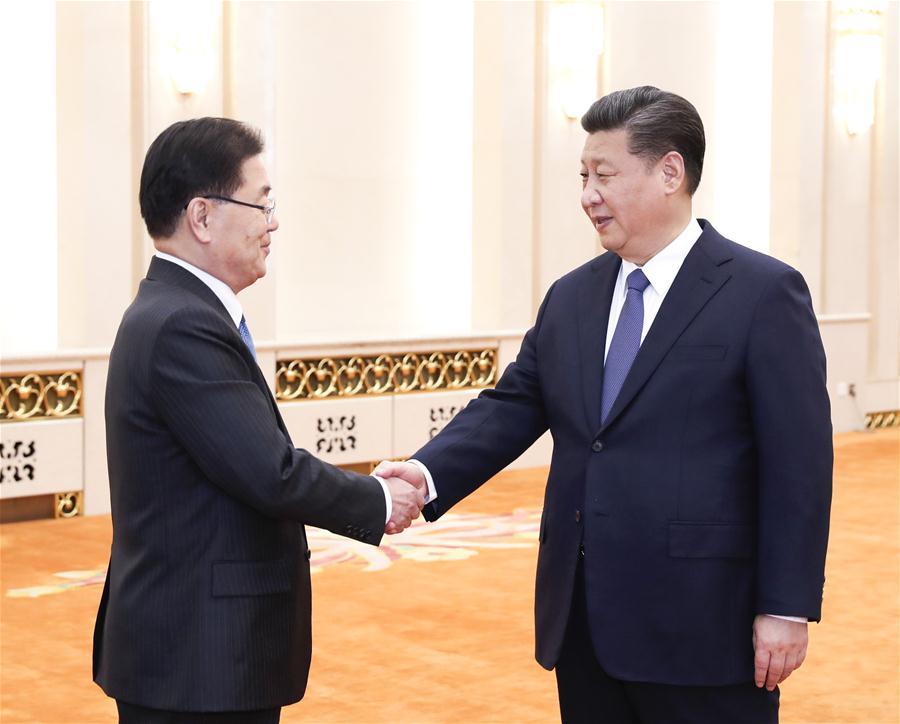 CHINA-BEIJING-XI JINPING-ROK-MEETING (CN)