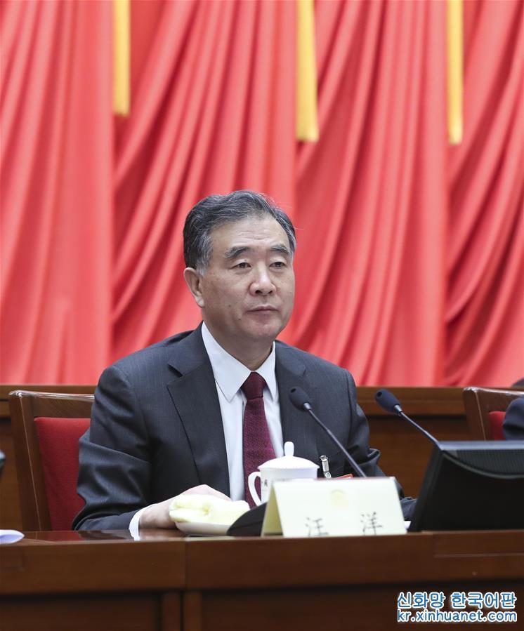 (两会)(2)全国政协十三届一次会议主席团举行第二次会议 汪洋主持