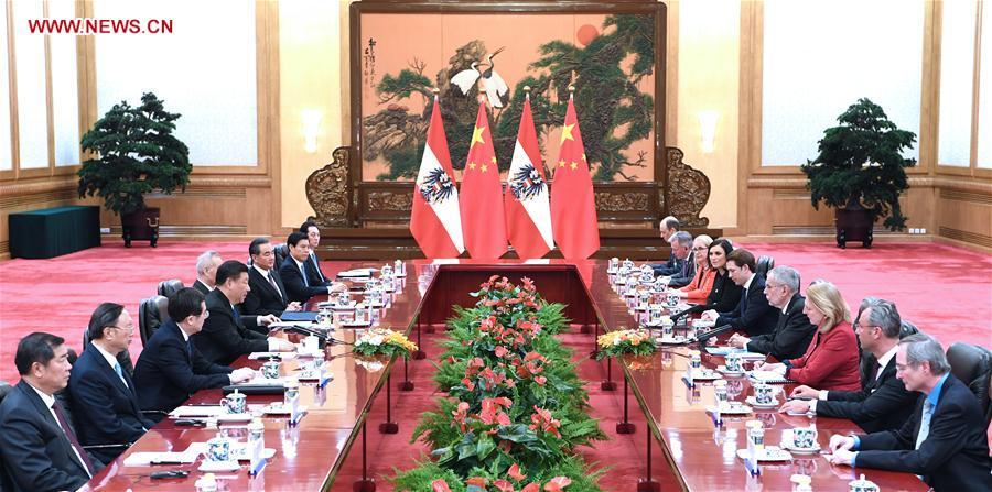CHINA-BEIJING-XI JINPING-AUSTRIAN PRESIDENT-TALKS (CN)