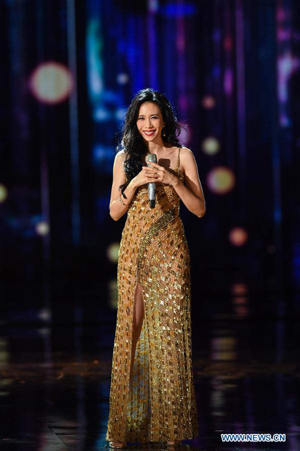 Karen Mok attends the opening ceremony of the 8th Beijing International Film Festival (BJIFF) in Beijing, capital of China, April 15, 2018. (Xinhua/Liu Junxi)<br/>