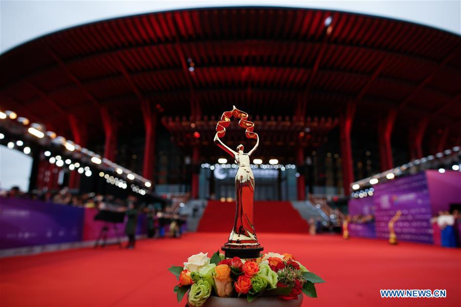 The closing ceremony of the 8th Beijing International Film Festival (BJIFF) is held in Beijing, capital of China, April 22, 2018. (Xinhua/Liu Bin)<br/>
