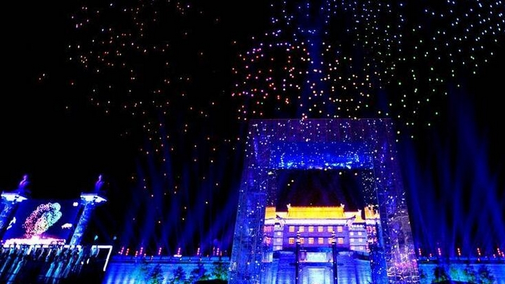 光影盛典炫舞西安古城墙