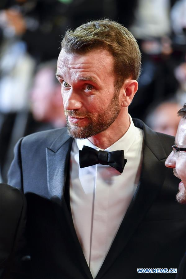 Polish actor Tomasz Kot of the film &quot;Cold War&quot; poses for photos during the premiere red carpet of &quot;Cold War&quot; at the 71st Cannes International Film Festival in Cannes, France, on May 10, 2018. The 71st Cannes International Film Festival is held from May 8 to May 19. (Xinhua/Chen Yichen)<br/>