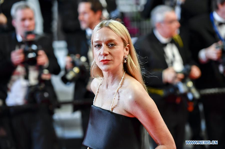 U.S. actress Chloe Sevigny poses for photos during the premiere red carpet of the film &quot;Cold War&quot; at the 71st Cannes International Film Festival in Cannes, France, on May 10, 2018. The 71st Cannes International Film Festival is held from May 8 to May 19. (Xinhua/Chen Yichen)<br/>