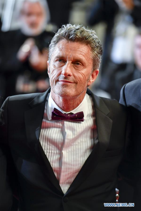 Polish director Pawel Pawlikowski of the film &quot;Cold War&quot; poses for photos during the premiere red carpet of &quot;Cold War&quot; at the 71st Cannes International Film Festival in Cannes, France, on May 10, 2018. The 71st Cannes International Film Festival is held from May 8 to May 19. (Xinhua/Chen Yichen)<br/>