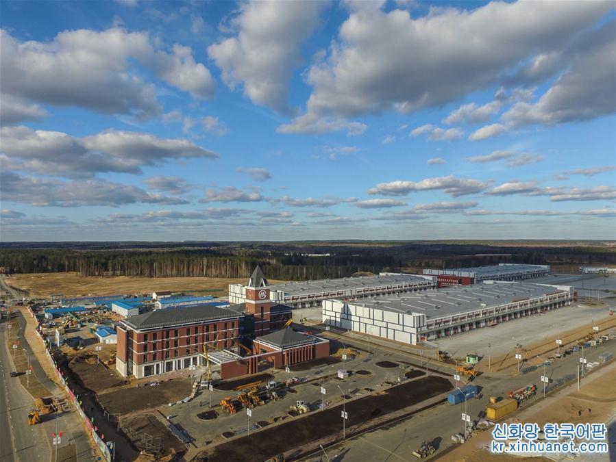 벨라루스 수도 민스크 동쪽 25km에서 촬영한 중국-벨라루스 산업단지(Great Stone)의 자료 사진.