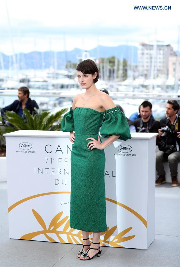 Actress Phoebe Waller-Bridge of the film &quot;Solo: A Star Wars Story&quot; poses during a photocall at the 71st Cannes International Film Festival in Cannes, France, on May 15, 2018. The 71st Cannes International Film Festival is held from May 8 to May 19. (Xinhua/Luo Huanhuan)<br/>