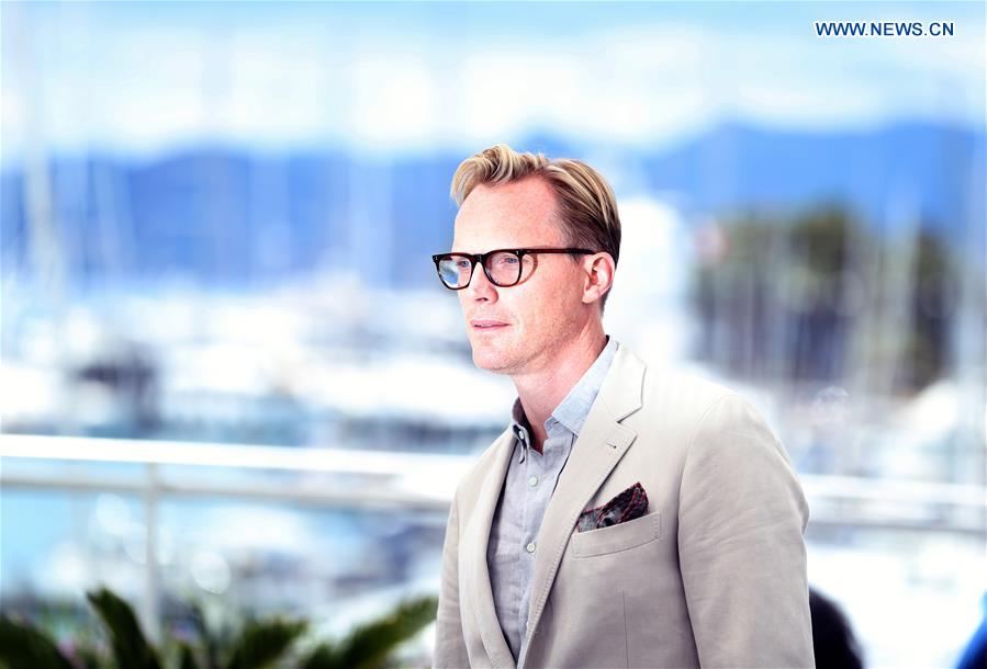 Actor Paul Bettany of the film &quot;Solo: A Star Wars Story&quot; poses during a photocall at the 71st Cannes International Film Festival in Cannes, France, on May 15, 2018. The 71st Cannes International Film Festival is held from May 8 to May 19. (Xinhua/Luo Huanhuan)<br/>