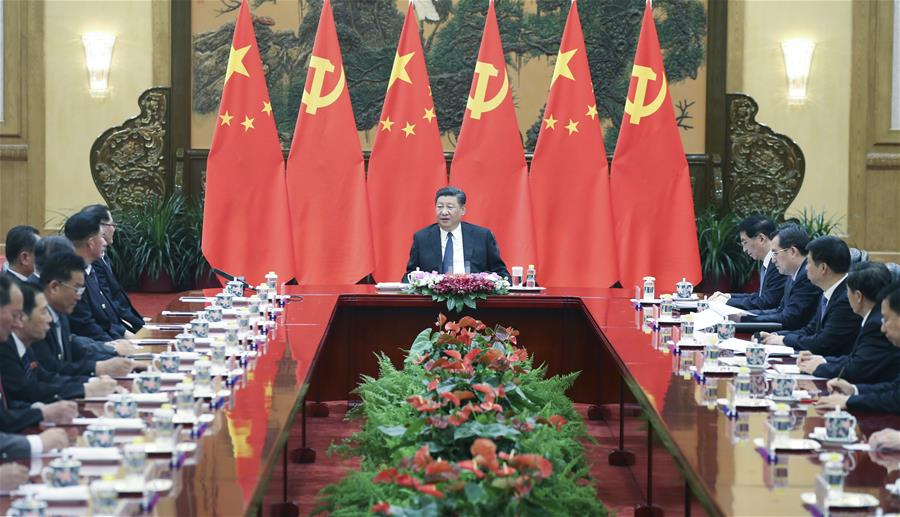 CHINA-BEIJING-XI JINPING-DPRK-WPK-FRIENDSHIP VISITING GROUP-MEETING (CN)