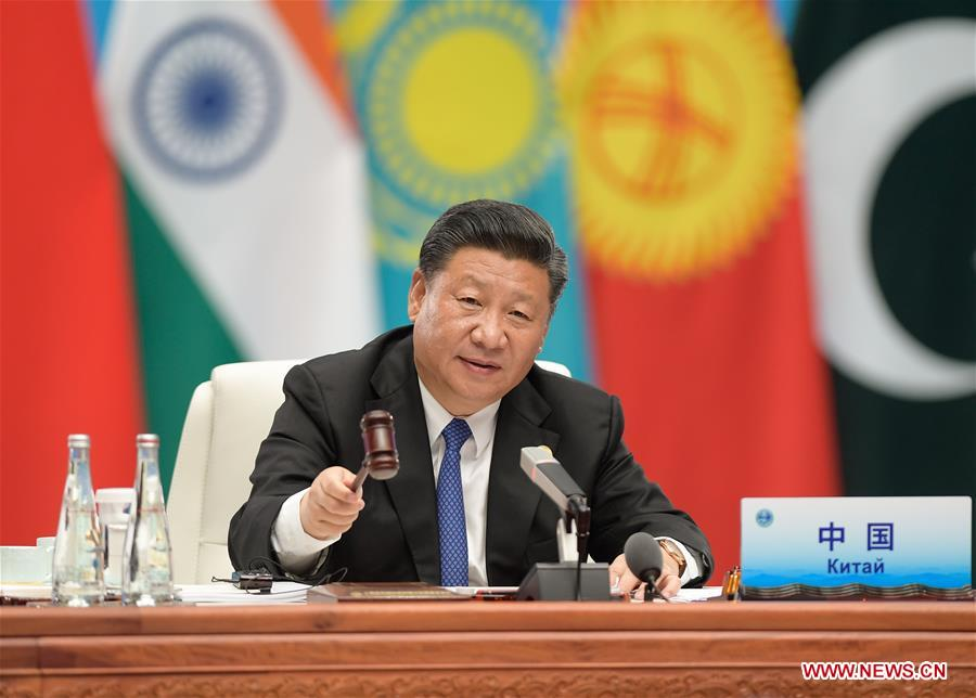 (SCO SUMMIT) CHINA-QINGDAO-XI JINPING-SCO-SUMMIT (CN)