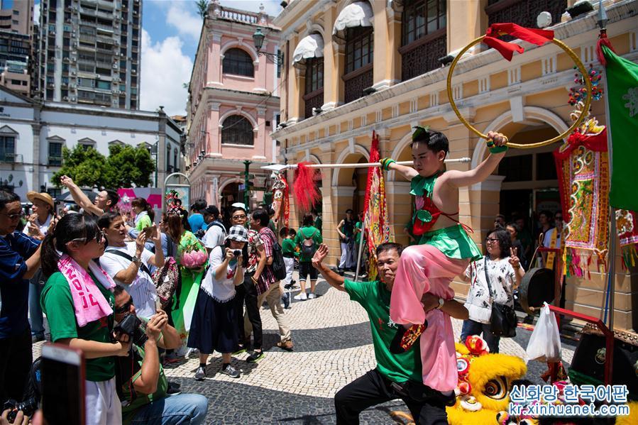 (XHDW)(2)澳门举行哪吒太子圣尊巡游活动