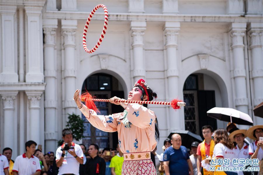(XHDW)(1)澳门举行哪吒太子圣尊巡游活动