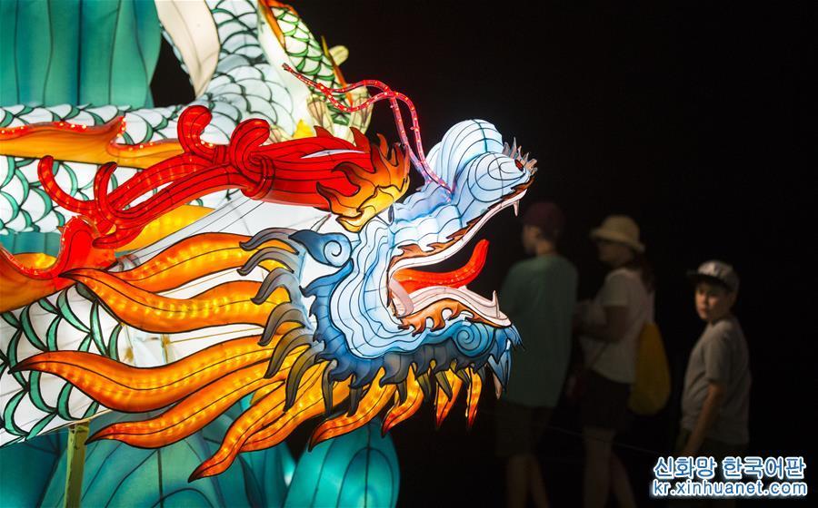 중국 '등 축제', 캐나다 내셔널 박람회서 전시