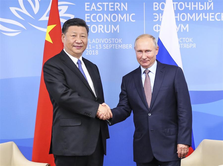 RUSSIA-VLADIVOSTOK-XI JINPING-PUTIN-TALKS