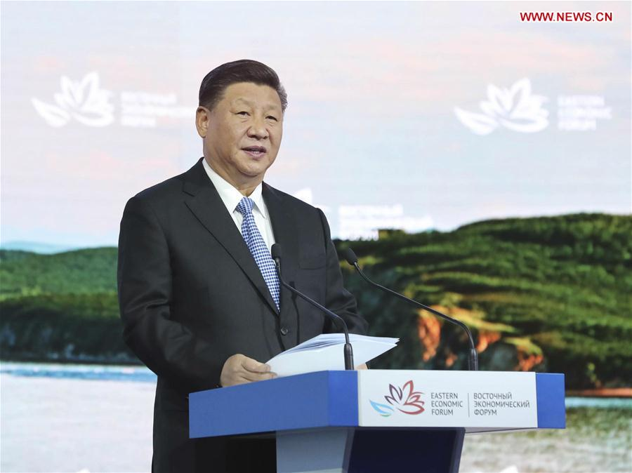 RUSSIA-VLADIVOSTOK-CHINA-XI JINPING-EEF