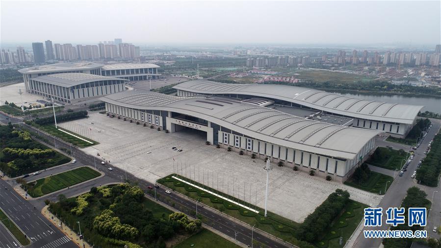 <br/>   这是天津梅江会展中心一景(9月13日无人机摄)。