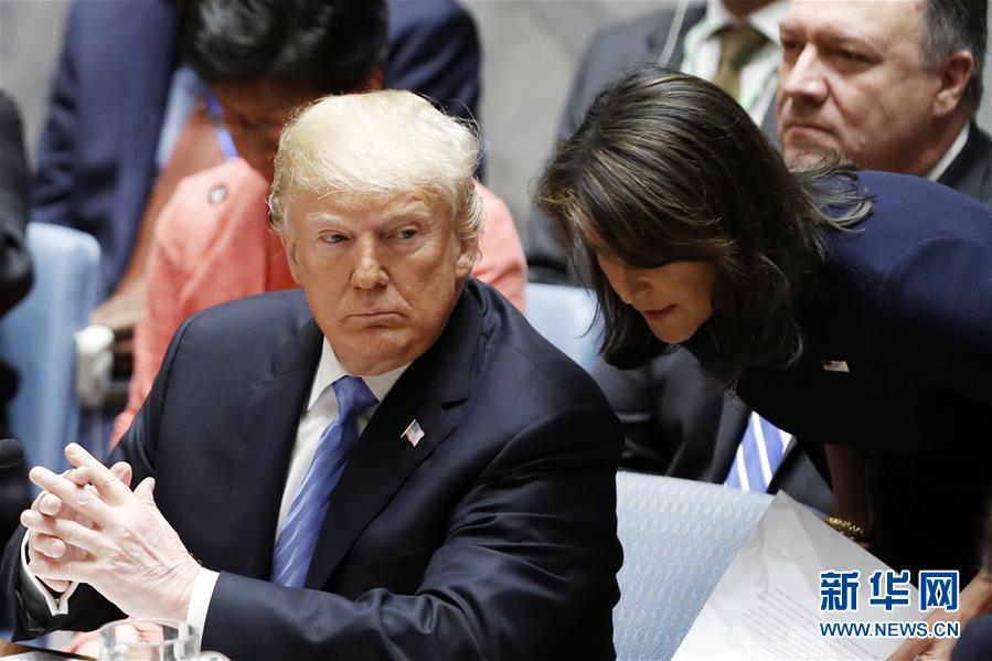 (国际)(1)特朗普说美国常驻联合国代表黑莉将于年底离职