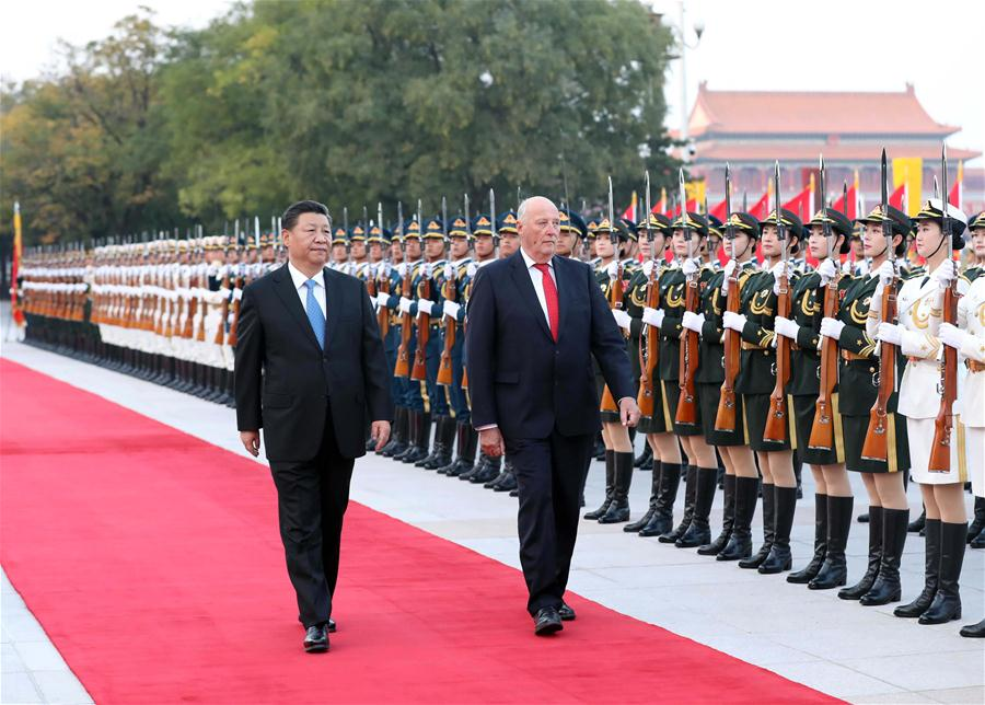 CHINA-BEIJING-XI JINPING-NORWAY KING-TALKS (CN)