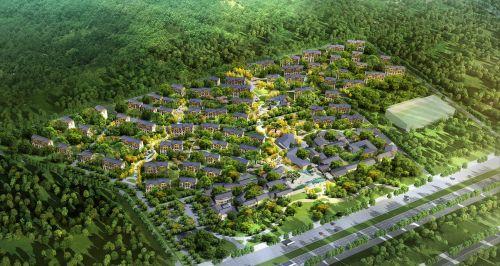 藏马山居效果图示意图 西海岸发展集团供图
